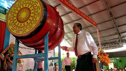 Phó Thủ tướng đánh trống khai giảng ở ngôi trường 128 tuổi ảnh 3