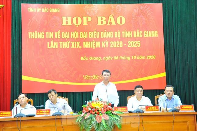 Tỉnh Bắc Giang không mua quà tặng đại biểu dự Đại hội Đảng bộ ảnh 1