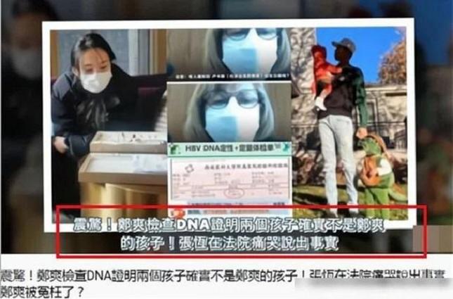 """""""Ngã ngửa"""" khi phát hiện giấy xét nghiệm ADN con của Trịnh Sảng - Trương Hằng, sự thật là? ảnh 1"""