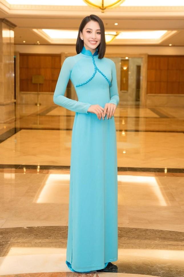 Hoa hậu Đỗ Thị Hà, Tiểu Vy cùng dàn hậu khoe sắc nền nã trong tà áo dài, nhận cương vị mới ảnh 7