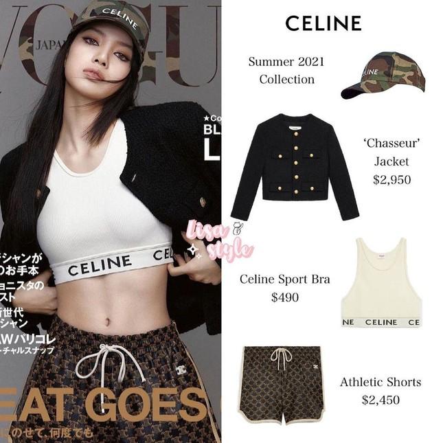 Soi giá đồ trên bìa VOGUE Nhật của Lisa mà sốc, quần soóc thể thao đắt gần bằng áo jacket? ảnh 4