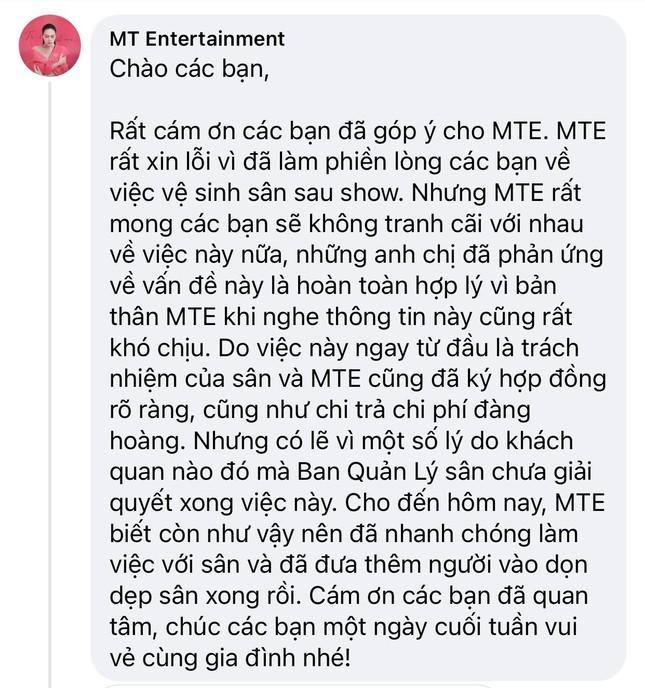"""Tranh cãi vì hình ảnh sân Phú Thọ ngập rác sau liveshow """"Tri âm"""", ê-kíp Mỹ Tâm nói gì? ảnh 2"""