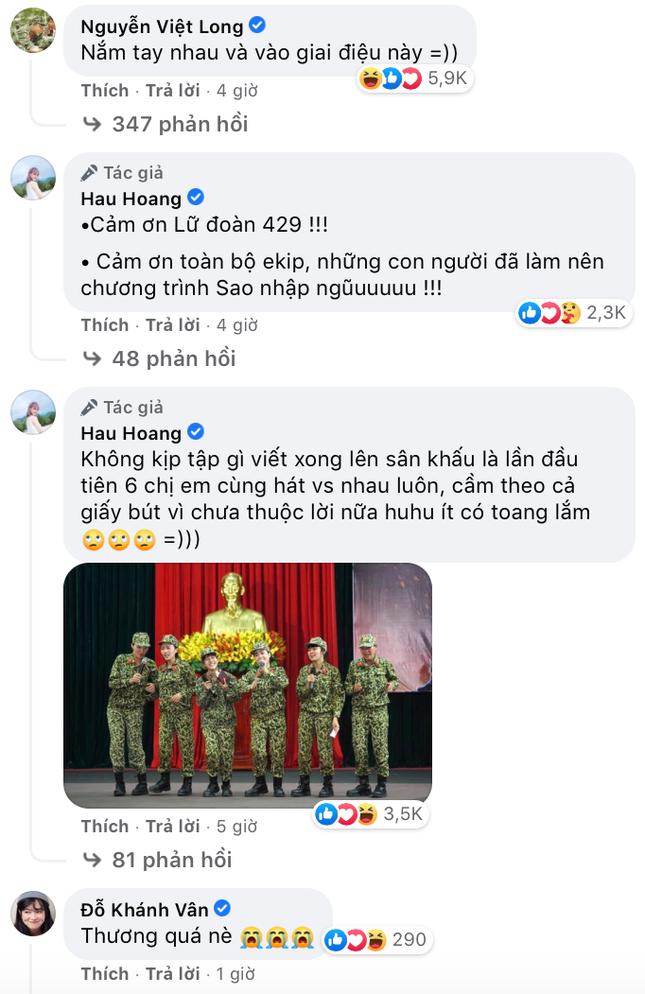 Hậu Hoàng đọc rap trong bài hát cảm ơn Sao Nhập Ngũ, nắm tay Mũi trưởng Long cực tình cảm ảnh 3
