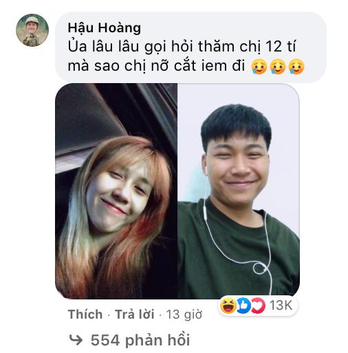 """Mũi trưởng Long đăng ảnh selfie nhưng lại bị Hậu Hoàng trêu """"người đàn ông xấu xa"""" ảnh 2"""
