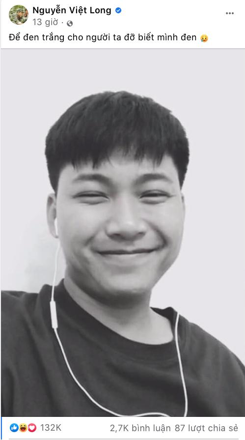 """Mũi trưởng Long đăng ảnh selfie nhưng lại bị Hậu Hoàng trêu """"người đàn ông xấu xa"""" ảnh 1"""