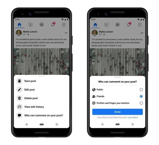 Facebook ra mắt tính năng mới, cho phép người dùng chặn các bình luận tiêu cực ở bài đăng ảnh 1