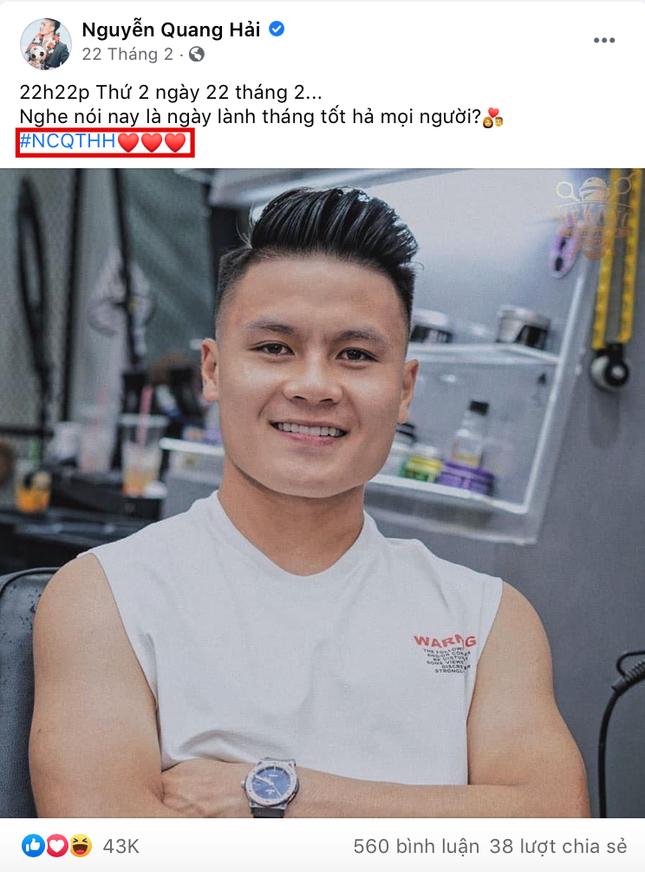 """Huỳnh Anh đăng status """"Em mừng cho anh"""", dân mạng tìm ra danh tính tình mới của Quang Hải? ảnh 1"""