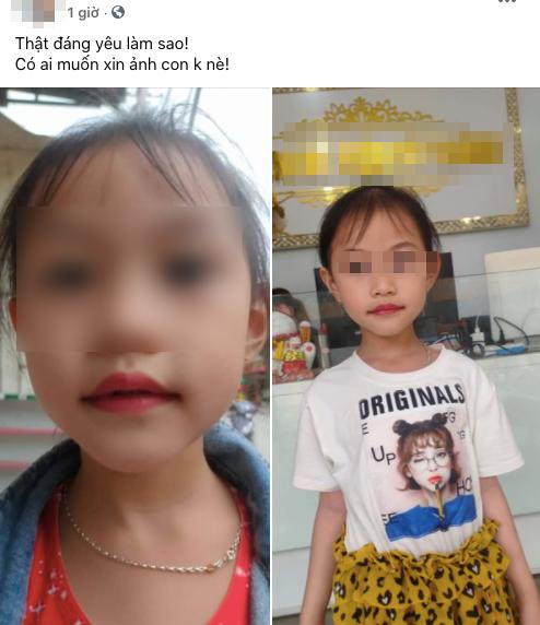 """Tranh cãi vụ bé gái 5 tuổi xăm môi, phụ huynh khẳng định: """"Từ giờ không phải đánh son""""? ảnh 3"""