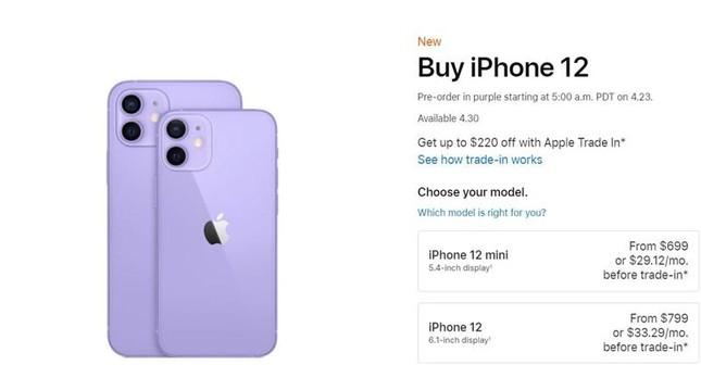 Ấn tượng đầu tiên về iPhone 12 màu Tím khoai mỡ: Màu sắc độc đáo, giá từ 16,1 triệu đồng ảnh 4
