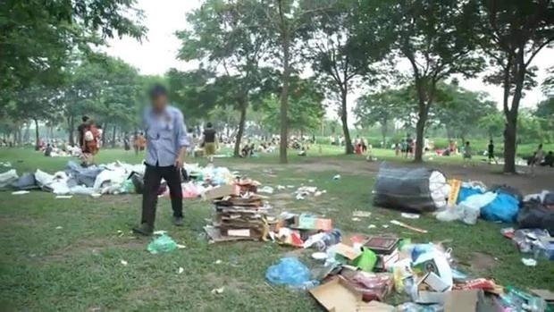 Hà Nội: Ngán ngẩm cảnh công viên Yên Sở ngập trong rác thải sau ngày nghỉ lễ ảnh 2