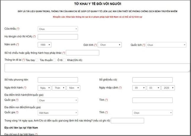 Hướng dẫn các bước khai báo y tế online cực nhanh, giúp bạn tiết kiệm nhiều thời gian ảnh 2