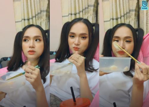 """Hương Giang livestream để """"mukbang"""", fan """"lầy lội"""" chỉ hỏi về 7 hằng đẳng thức đáng nhớ ảnh 4"""