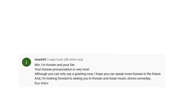 """Xinh đẹp, hát hay, Min còn """"đốn tim"""" fan vì biết nói 5 thứ tiếng và tài rap cực đỉnh ảnh 3"""