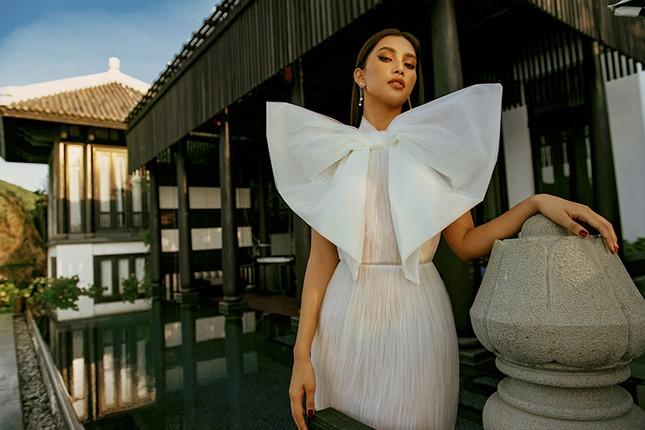 Ngắm Hoa hậu Tiểu Vy đẹp xuất thần trong bộ sưu tập mới của NTK Lê Thanh Hòa ảnh 9