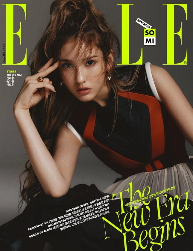 Jeon Somi vừa xinh đẹp cuốn hút, vừa tinh nghịch đáng yêu trên bìa ELLE Hàn tháng 9 ảnh 2