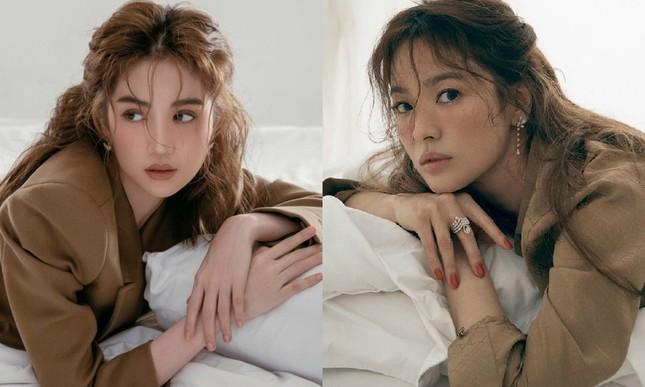 Ngọc Trinh mặc kín đáo vẫn xinh đẹp, visual không hề kém cạnh khi bắt chước Song Hye Kyo ảnh 3