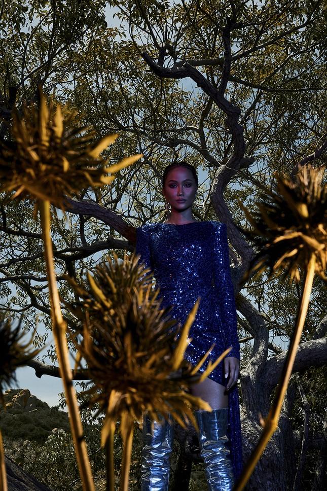 H'Hen Niê đẹp như nữ thần thiên nhiên trong bộ ảnh kết hợp cùng NTK Lê Thanh Hòa ảnh 3