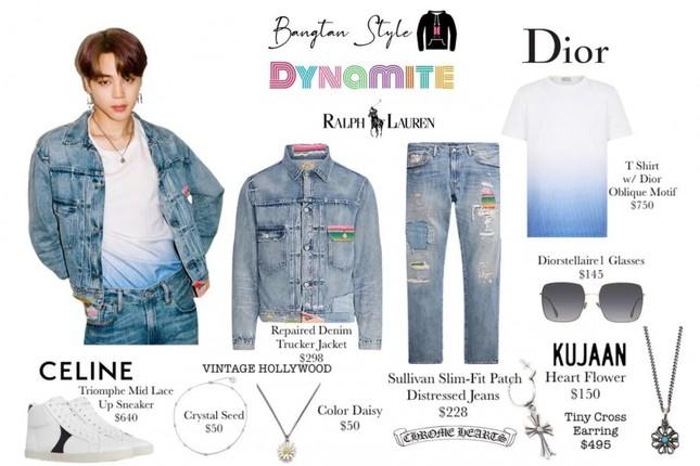 """Jimin (BTS) mặc đồ gì trong MV """"Dynamite"""" mà khiến netizen sục sôi tìm kiếm nhãn hiệu? ảnh 3"""