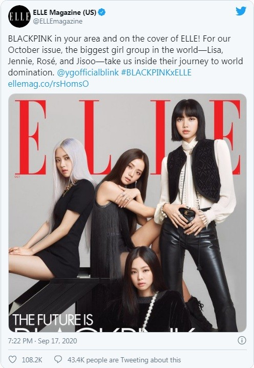 """Lên bìa ELLE Mỹ tháng 10, bốn cô gái vàng K-Pop khẳng định """"Tương lai chính là BLACKPINK"""" ảnh 1"""