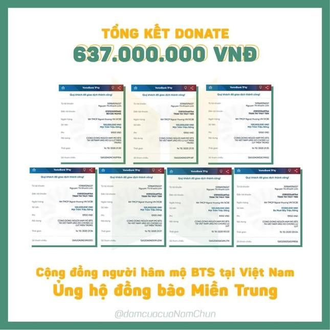 Cộng đồng fan K-Pop tại Việt Nam quyên góp số tiền lên tới hơn 1,2 tỉ ủng hộ miền Trung ảnh 1