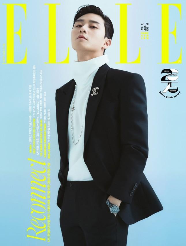 Park Seo Joon khác lạ trên bìa ELLE Hàn sau khi trở thành đại sứ của Chanel Beauty ảnh 3
