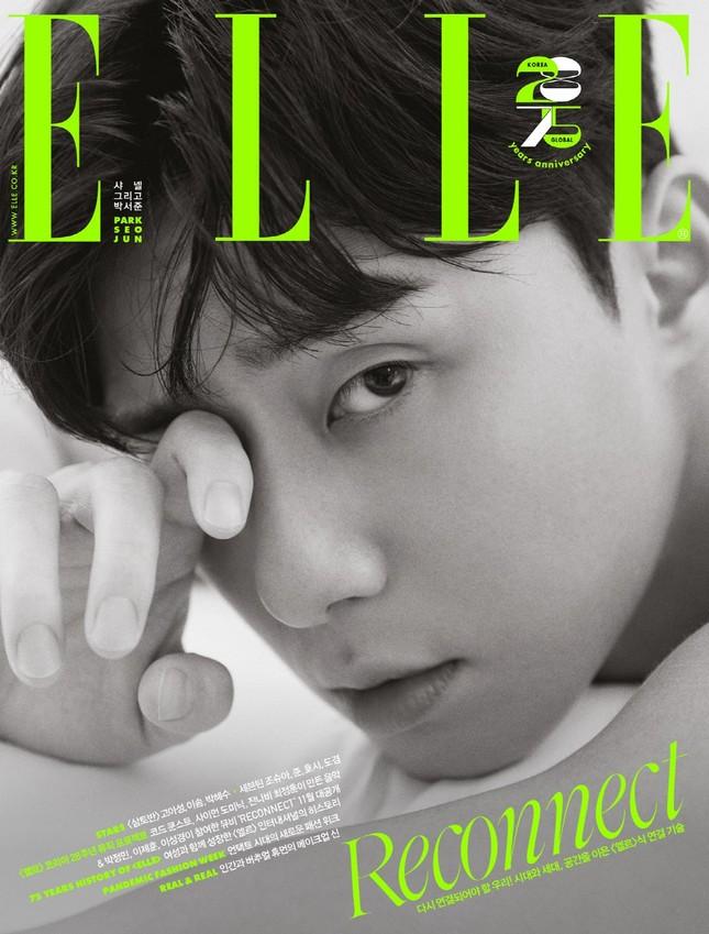 Park Seo Joon khác lạ trên bìa ELLE Hàn sau khi trở thành đại sứ của Chanel Beauty ảnh 2