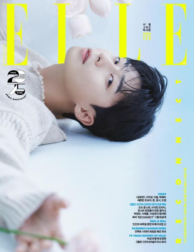 Park Seo Joon khác lạ trên bìa ELLE Hàn sau khi trở thành đại sứ của Chanel Beauty ảnh 1
