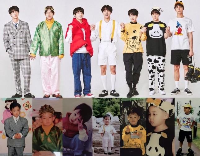 """ARMY """"phát cuồng"""" với bộ ảnh """"Bạn đã thay đổi nhiều thế nào"""" siêu dễ thương của BTS ảnh 1"""
