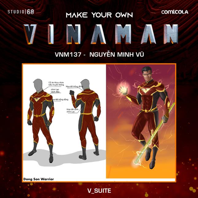 Top 25 thiết kế trang phục siêu anh hùng VINAMAN, thế này gia nhập Avengers cũng được nhỉ! ảnh 8
