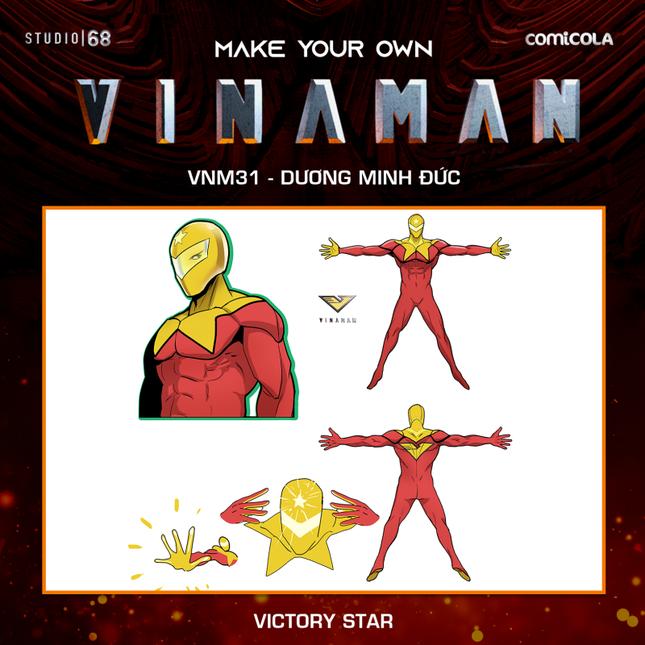 Top 25 thiết kế trang phục siêu anh hùng VINAMAN, thế này gia nhập Avengers cũng được nhỉ! ảnh 15