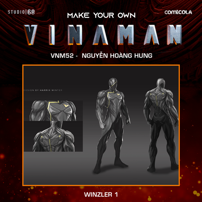 Top 25 thiết kế trang phục siêu anh hùng VINAMAN, thế này gia nhập Avengers cũng được nhỉ! ảnh 19