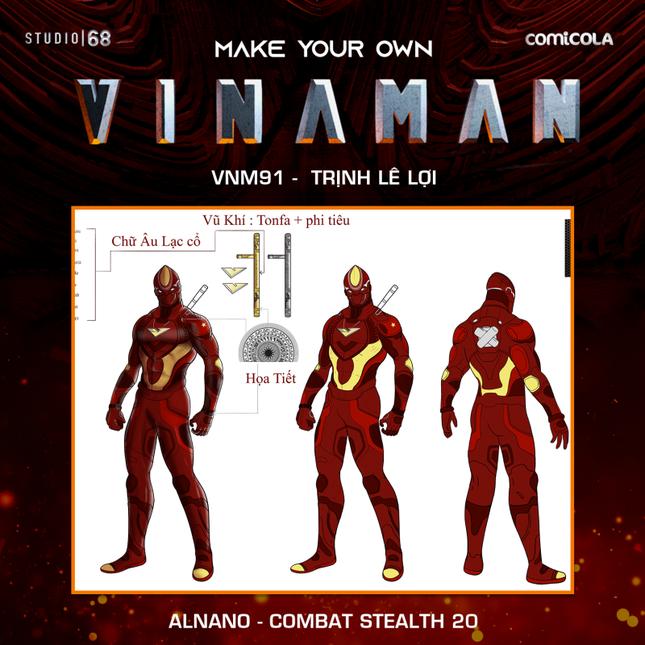 Top 25 thiết kế trang phục siêu anh hùng VINAMAN, thế này gia nhập Avengers cũng được nhỉ! ảnh 24