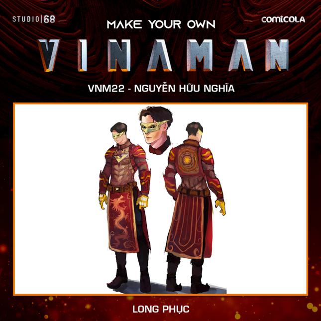Top 25 thiết kế trang phục siêu anh hùng VINAMAN, thế này gia nhập Avengers cũng được nhỉ! ảnh 26