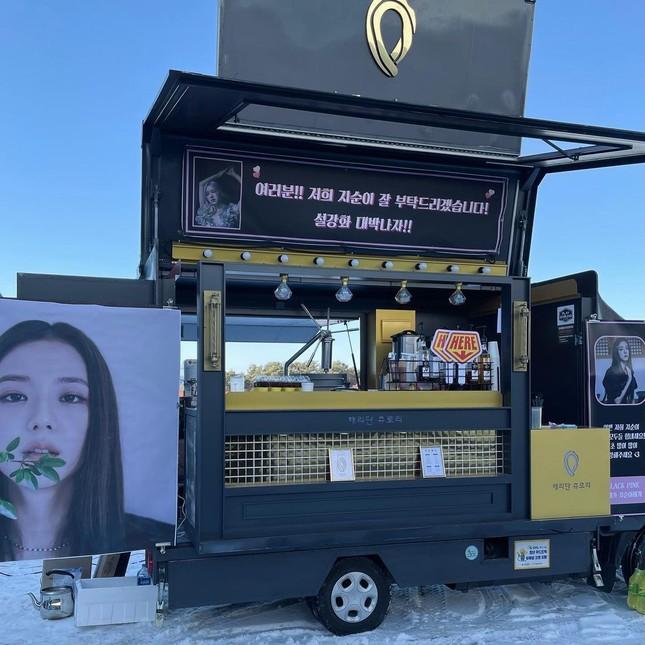"""Rosé gửi xe cà phê cho Jisoo đến phim trường """"Snowdrop"""" với lời nhắn nhủ đáng yêu cực kỳ ảnh 4"""