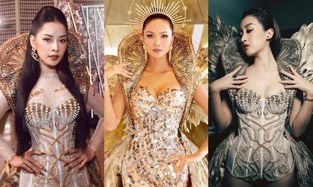 """Chi Pu có quá can đảm khi dám diện chiếc váy 40kg """"đụng hàng"""" Hoa hậu Mỹ Linh & H'Hen Niê? ảnh 11"""