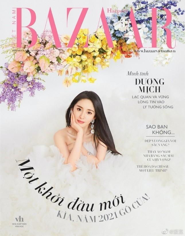 """Dương Mịch """"mở hàng"""" bìa năm mới của 3 tạp chí lớn, trong đó có Harper's BAZAAR Việt Nam ảnh 6"""