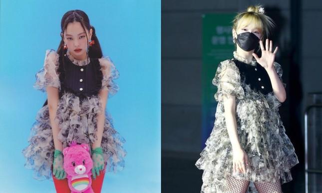 """Seunghee OH MY GIRL biến bộ váy từng được Jennie BLACKPINK mặc thành """"thảm họa thời trang"""" ảnh 5"""