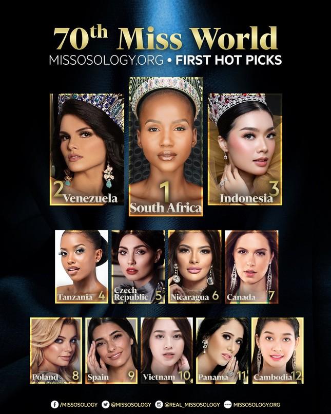 Hoa hậu Đỗ Thị Hà bất ngờ được chuyên trang sắc đẹp thế giới dự đoán lọt Top 10 Miss World ảnh 1