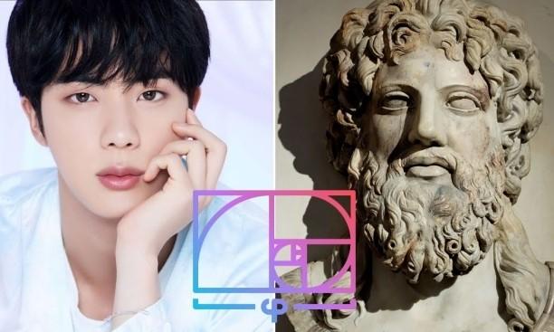 """Jin (BTS) xứng danh """"nam thần"""" với khuôn mặt có tỉ lệ y chang thần Zeus của thần thoại Hy Lạp ảnh 2"""
