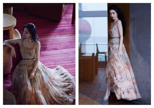 Cùng quảng cáo nước hoa Dior, hai đại sứ Jisoo (BLACKPINK) và Angela Baby lại được đem ra so sánh ảnh 8