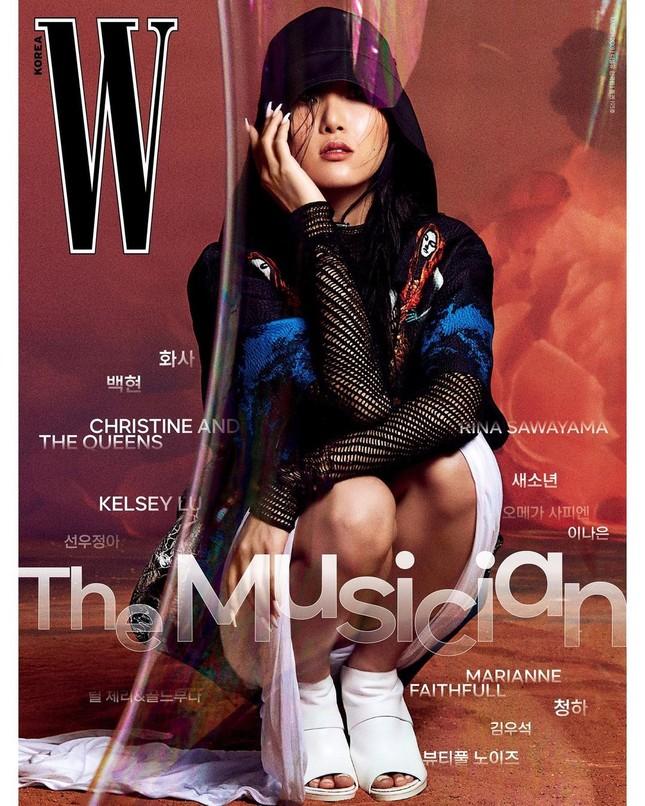 Tạp chí W Hàn tung bìa số tháng 3, Baekhyun (EXO) thì rõ rồi nhưng idol nữ mới thực sự là ẩn số ảnh 3