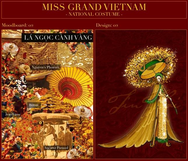 Nhìn bản phác thảo quốc phục của Á hậu Ngọc Thảo, netizen dự đoán sẽ vô cùng hoành tráng ảnh 4