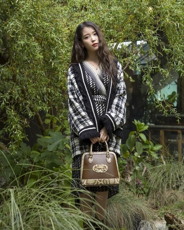 Tiểu Vy, Khánh Linh, Quỳnh Anh Shyn, IU, Dương Mịch cùng diện áo Gucci, ai kém nổi bật nhất? ảnh 2