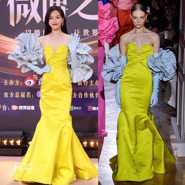 Netizen bất ngờ với những màn chỉnh sửa váy cực khéo léo từ dàn sao nữ trong Đêm hội Weibo ảnh 1