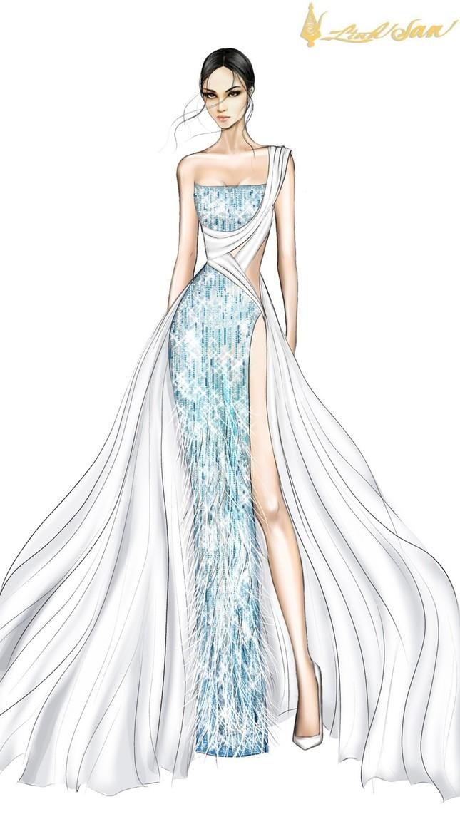 Hé lộ trang phục dạ hội mang hình tượng bồ câu được Á hậu Ngọc Thảo chọn đi dự thi ảnh 2
