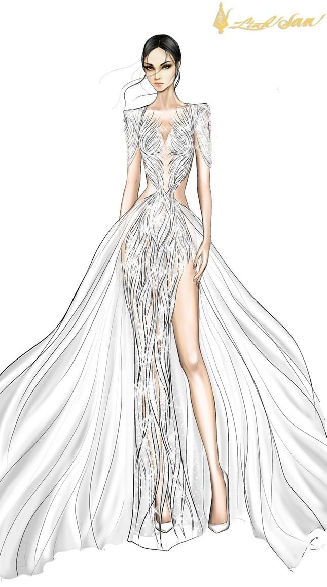 Hé lộ trang phục dạ hội mang hình tượng bồ câu được Á hậu Ngọc Thảo chọn đi dự thi ảnh 3