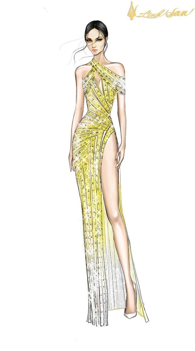 Hé lộ trang phục dạ hội mang hình tượng bồ câu được Á hậu Ngọc Thảo chọn đi dự thi ảnh 4