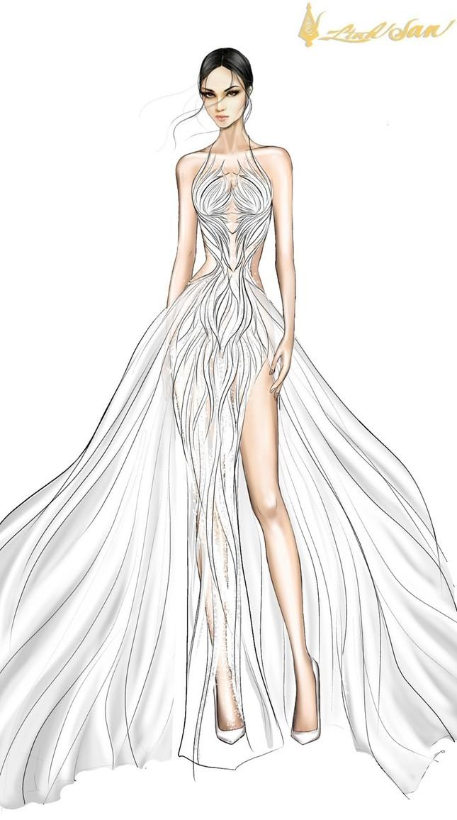 Hé lộ trang phục dạ hội mang hình tượng bồ câu được Á hậu Ngọc Thảo chọn đi dự thi ảnh 5