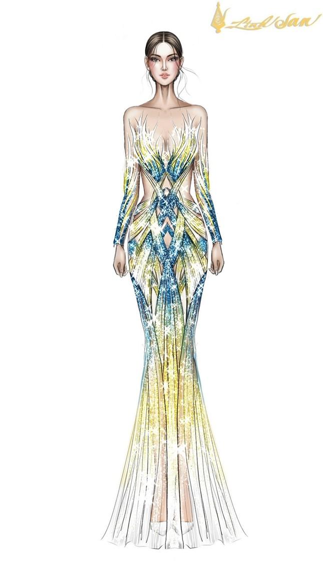 Hé lộ trang phục dạ hội mang hình tượng bồ câu được Á hậu Ngọc Thảo chọn đi dự thi ảnh 6