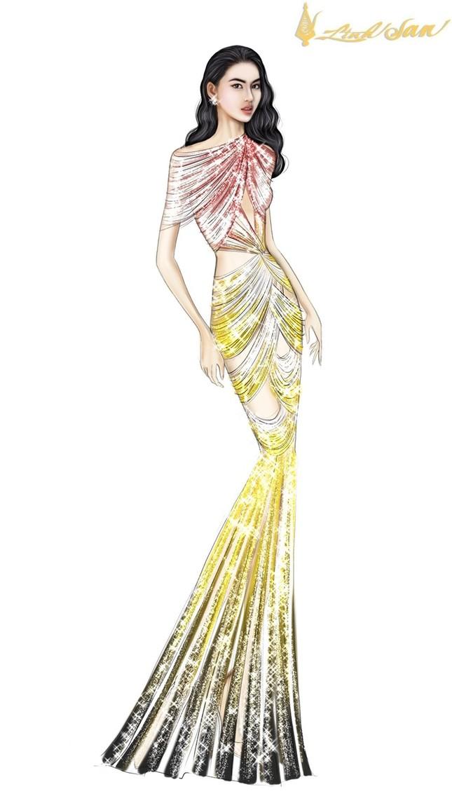 Hé lộ trang phục dạ hội mang hình tượng bồ câu được Á hậu Ngọc Thảo chọn đi dự thi ảnh 7